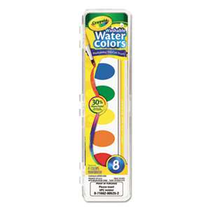 BINNEY & SMITH / CRAYOLA Washable Watercolor Paint, 8 Assorted Colors