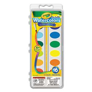 BINNEY & SMITH / CRAYOLA Washable Watercolor Paint, 16 Assorted Colors