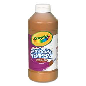 BINNEY & SMITH / CRAYOLA Artista II Washable Tempera Paint, Brown, 16 oz