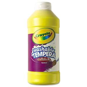 BINNEY & SMITH / CRAYOLA Artista II Washable Tempera Paint, Yellow, 16 oz
