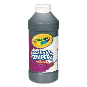 BINNEY & SMITH / CRAYOLA Artista II Washable Tempera Paint, Black, 16 oz