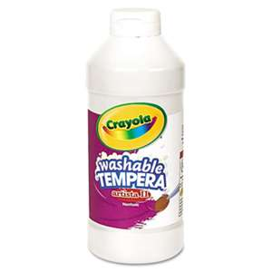 BINNEY & SMITH / CRAYOLA Artista II Washable Tempera Paint, White, 16 oz