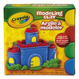 BINNEY & SMITH / CRAYOLA Modeling Clay Assortment, 1/4 lb each Blue/Green/Red/Yellow, 1 lb
