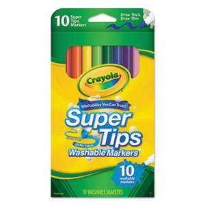 BINNEY & SMITH / CRAYOLA Washable Super Tips Markers, Assorted, 10/Pack