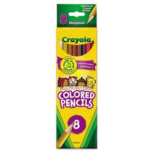 BINNEY & SMITH / CRAYOLA Multicultural Colored Woodcase Pencils, 3.3 mm, 8 Assorted Colors/Set