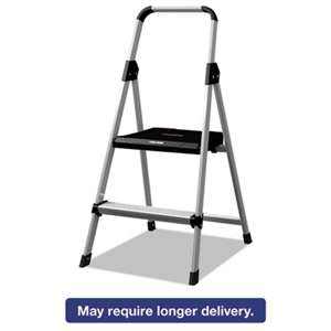 LOUISVILLE Aluminum Step Stool Ladder, 225 lb Capacity, 18 1/2w x 23 1/2 spread x 38 1/2h
