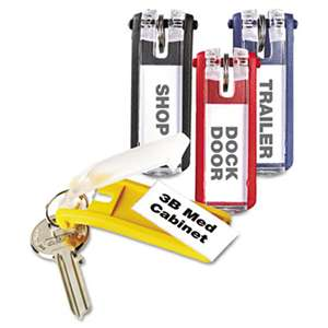 DURABLE OFFICE PRODUCTS CORP. Key Tags for Locking Key Cabinets, Plastic, 1 1/8 x 2 3/4, Assorted, 24/Pack