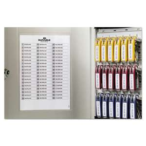 DURABLE OFFICE PRODUCTS CORP. Locking Key Cabinet, 54-Key, Brushed Aluminum, Silver, 11 3/4 x 4 5/8 x 11