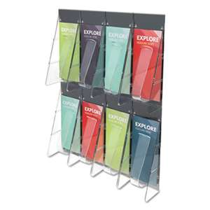 DEFLECTO CORPORATION Multi-Pocket Wall-Mount Literature Systems, 18 1/4w x 23 3/4h, Clear/Black