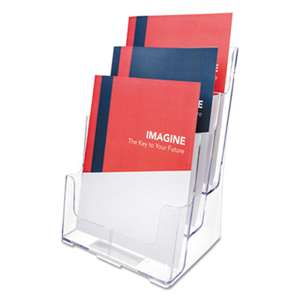 DEFLECTO CORPORATION Multi Compartment DocuHolder, 3 Compartments, 9 1/2w x 6 1/4d x 12 5/8h, Clear