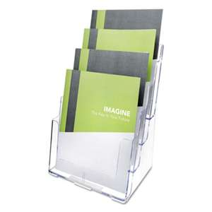 DEFLECTO CORPORATION Multi Compartment DocuHolder, Four Compartments, 9 3/8w x 7d x 13 5/8h, Clear