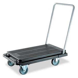 DEFLECTO CORPORATION Heavy-Duty Platform Cart, 500lb Capacity, 21w x 32 1/2d x 37 1/2h, Black