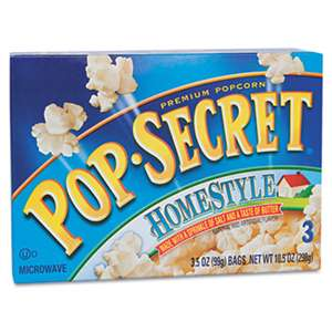 DIAMOND FOODS Microwave Popcorn, Homestyle, 3.5oz Bags, 3/Box