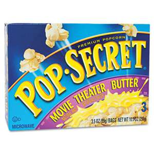 DIAMOND FOODS Microwave Popcorn, Movie Theater Butter, 3.5oz Bags, 3/Box