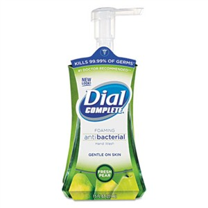 DIAL PROFESSIONAL Antibacterial Foaming Hand Wash, Fresh Pear, 7.5oz Pump Bottle