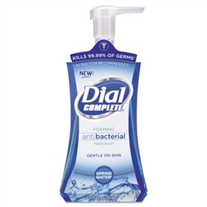 DIAL PROFESSIONAL Antibacterial Foaming Hand Wash, Spring Water, 7.5oz