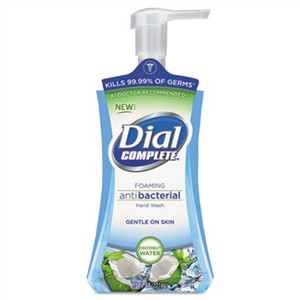 DIAL PROFESSIONAL Antibacterial Foaming Hand Wash, Coconut Waters, 7.5 oz Pump Bottle