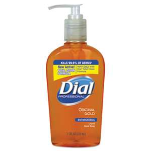 DIAL PROFESSIONAL Gold Antimicrobial Liquid Hand Soap, Floral Fragrance, 7.5oz Pump Bottle