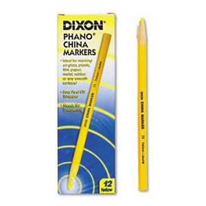 DIXON TICONDEROGA CO. China Marker, Yellow, Dozen