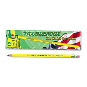 DIXON TICONDEROGA CO. Woodcase Pencil, B #1, Yellow, Dozen