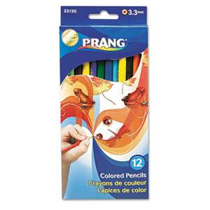 DIXON TICONDEROGA CO. Prang Colored Wood Pencil Set, 3.3 mm, 12 Assorted Colors, 12 Pencils/Set