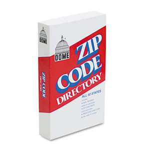 DOME PUBLISHING COMPANY Zip Code Directory, Paperback, 750 Pages