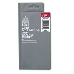 DOME PUBLISHING COMPANY Auto Mileage Log/Expense Record, 3 1/2 x 6 1/2, 140-Page Book