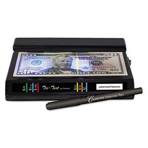 DRI-MARK PRODUCTS Tri Test Counterfeit Bill Detector, UV with Pen, 7 x 4 x 2 1/2