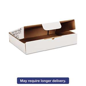 SHURTECH Self-Locking Shipping Boxes, 11 1/2l x 8 3/4w x 2 1/8h, White, 25/Pack