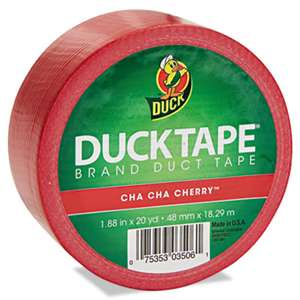 "SHURTECH Colored Duct Tape, 9 mil, 1.88"" x 20 yds, 3"" Core, Red"