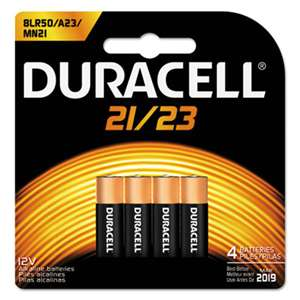 Duracell MN21B4PK CopperTop Alkaline Batteries with Duralock,12V, 4/Pk