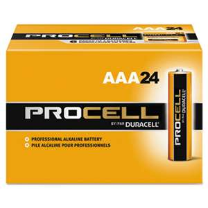 Duracell PC2400BKD Procell Alkaline Batteries, AAA, 24/Box