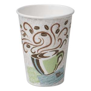 DIXIE FOOD SERVICE Hot Cups, Paper, 10oz, Coffee Dreams Design, 25/Pack