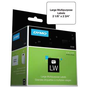 DYMO 30332 LabelWriter Multipurpose Labels, 1 x 1, White, 750 Labels/Roll