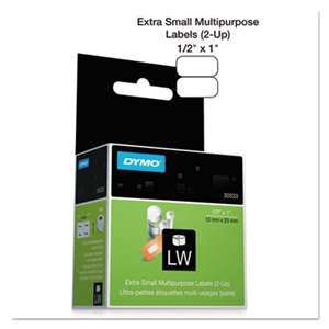 DYMO 30333 LabelWriter Multipurpose Labels, 1/2 x 1, White, 1000 Labels/Roll