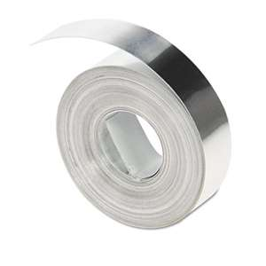"DYMO 31000 Rhino Metal Label Non-Adhesive Tape, 1/2"" x 16 ft., Aluminum"