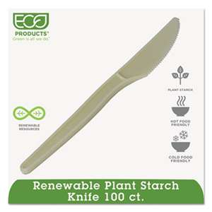 "ECO-PRODUCTS,INC. Plant Starch Knife - 7"", 50/PK"