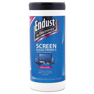 ENDUST Antistatic Cleaning Wipes, Premoistened, 70/Canister