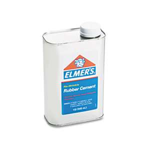 ELMER'S PRODUCTS, INC. Rubber Cement, Repositionable, 1 qt