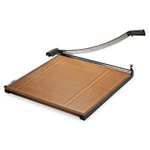 "ELMER'S PRODUCTS, INC. Square Commercial Grade Wood Base Guillotine Trimmer, 20 Sheets, 24"" x 24"""