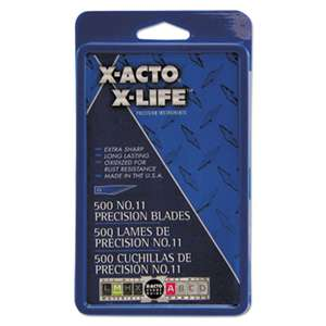 HUNT MFG. No. 11 Bulk Pack Blades for X-Acto Knives, 500/Box