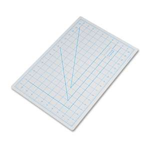 "HUNT MFG. Self-Healing Cutting Mat, Nonslip Bottom, 1"" Grid, 12 x 18, Gray"