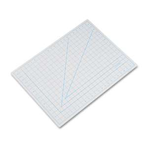 "HUNT MFG. Self-Healing Cutting Mat, Nonslip Bottom, 1"" Grid, 18 x 24, Gray"