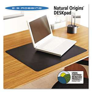 E.S. ROBBINS Natural Origins Desk Pad, 24 x 19, Matte, Black
