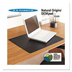 E.S. ROBBINS Natural Origins Desk Pad, 38 x 24, Matte, Black