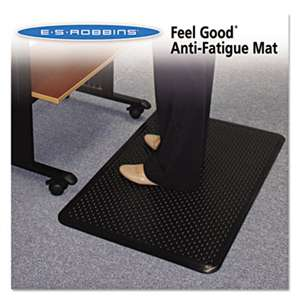 E.S. ROBBINS Feel Good Anti-Fatigue Floor Mat, 24 x 36, PVC, Black