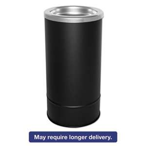 EXCELL METAL PRODUCTS CO Round Sand Urn w/Removable Tray, Black