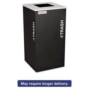 EXCELL METAL PRODUCTS CO Kaleidoscope Collection Recycling Receptacle, 24gal, Black