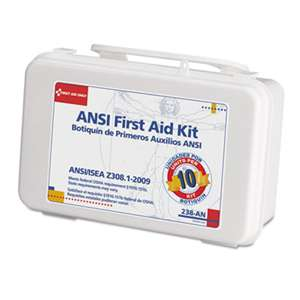 FIRST AID ONLY, INC. ANSI-Compliant First Aid Kit, 64 Pieces, Plastic Case