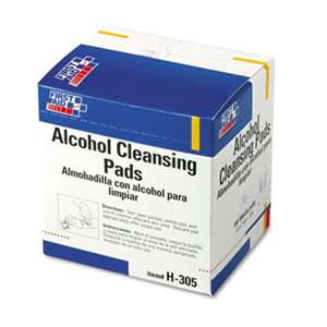 FIRST AID ONLY, INC. Alcohol Cleansing Pads, Dispenser Box, 100/Box